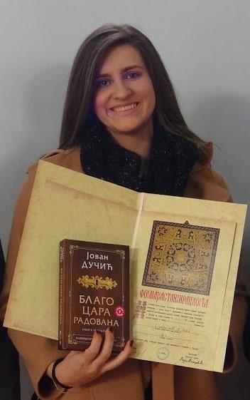 Nađa Stevanović ostvarila odličan rezultat na Književnoj olimpijadi