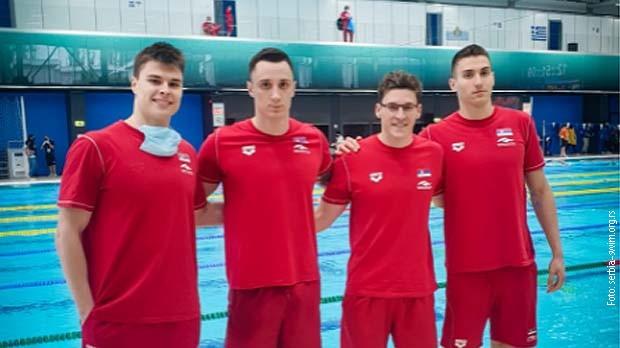 Štafeta Srbije 4×100 u plivanju i zvanično na OI