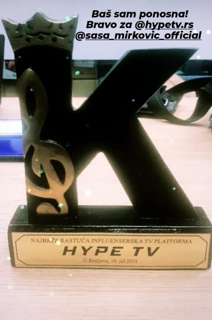 TUBE STAR AWARDS 2021: Hype televizija proglašena za najbrže rastuću influensersku TV platformu!